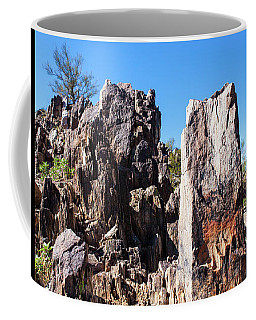 Coffee Mug featuring the photograph Desert Rocks by Ed Cilley