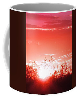 Desert Sunrise In Red Coffee Mug