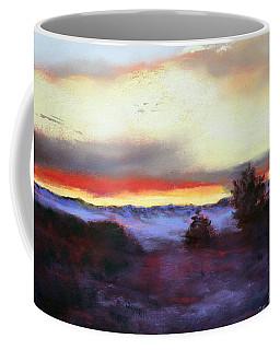 Coffee Mug featuring the painting Desert Sunset I by M Diane Bonaparte