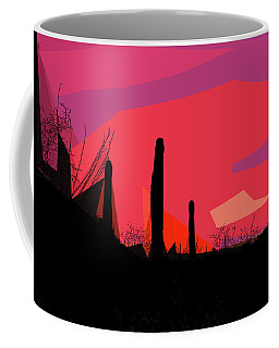 Desert Sunset In Tucson Coffee Mug