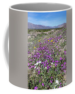 Coffee Mug featuring the photograph Desert Super Bloom by Peter Tellone