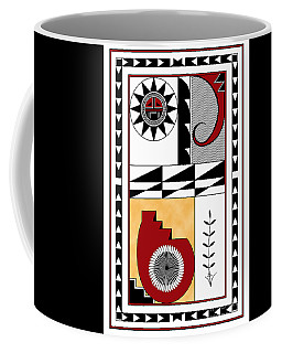 Southwest Collection - Design Five In Red Coffee Mug