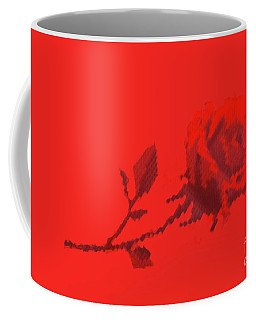 Coffee Mug featuring the photograph Designer Red Rose by Linda Phelps