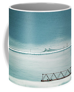 Coffee Mug featuring the photograph Designs And Lines - Winter In Switzerland by Susanne Van Hulst