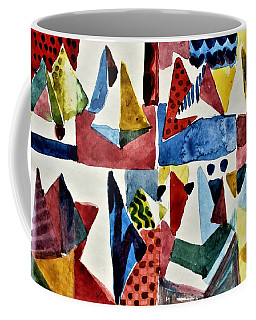 Coffee Mug featuring the painting Designs For Pyramids by Mindy Newman