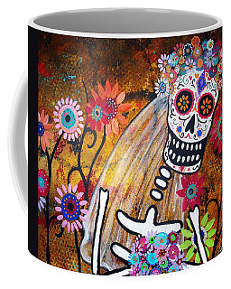 Coffee Mug featuring the painting Desposada by Pristine Cartera Turkus