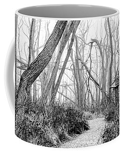 Destruction In Black And White Coffee Mug