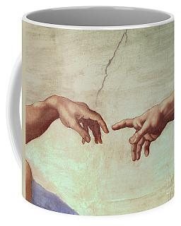 Detail From The Creation Of Adam Coffee Mug