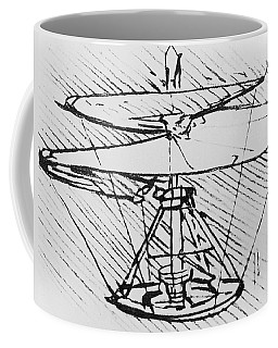 Detail Of A Design For A Flying Machine Coffee Mug