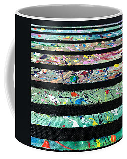 Coffee Mug featuring the painting Detail Of Agoraphobia  by Robbie Masso