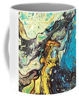 Coffee Mug featuring the painting Detail Of Conjuring 3 by Robbie Masso
