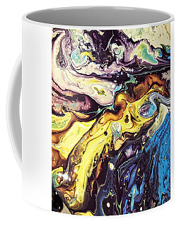 Coffee Mug featuring the painting Detail Of Conjuring by Robbie Masso
