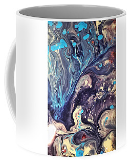 Coffee Mug featuring the painting Detail Of Fluid Painting 2 by Robbie Masso