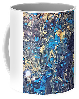 Coffee Mug featuring the painting Detail Of Fluid Painting 3 by Robbie Masso