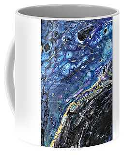 Coffee Mug featuring the painting Detail Of He Likes Space 3 by Robbie Masso