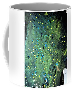 Coffee Mug featuring the painting Detail Of Mixed Media Painting by Robbie Masso