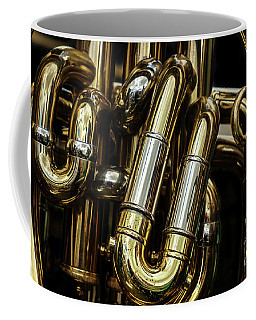 Detail Of The Brass Pipes Of A Tuba Coffee Mug
