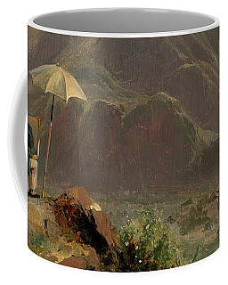 Detail Of View Of Bozen With A Painter, 1837  Coffee Mug