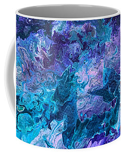Coffee Mug featuring the painting Detail Of Waves 7 by Robbie Masso
