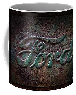 Detail Old Rusty Ford Pickup Truck Emblem Coffee Mug