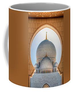 Detail View At Dome Of Sheikh Zayed Grand Mosque, Abu Dhabi, United Arab Emirates Coffee Mug