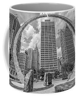 Detroit Hart Plaza And Cityscape  Coffee Mug