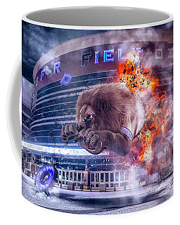 Coffee Mug featuring the photograph Detroit Lions At Ford Field 2 by Nicholas Grunas