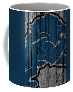 Detroit Lions Wood Fence Coffee Mug