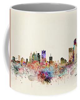 Detroit Michigan City Skyline Coffee Mug