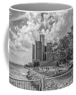 Detroit Riverfront And Reninsance Center  Coffee Mug by John McGraw