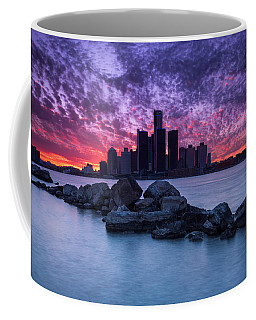 Detroit Skyline Clouds Coffee Mug