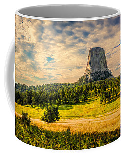 Coffee Mug featuring the photograph Devil's Tower - The Other Side by Rikk Flohr
