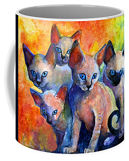 Devon Rex Kitten Cats Coffee Mug by Svetlana Novikova