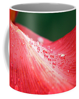 Dew Drops On A Wave Of Red Coffee Mug