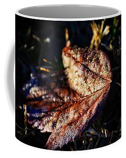 Dew Drops Sparkling And Showing Life On A Leaf -georgia Coffee Mug
