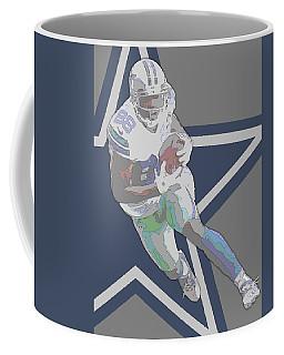Dez Bryant Dallas Cowboys Contour Art Coffee Mug by Joe Hamilton