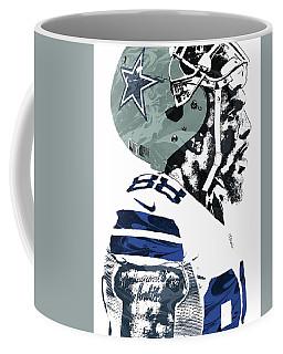 Coffee Mug featuring the mixed media Dez Bryant Dallas Cowboys Pixel Art 4 by Joe Hamilton