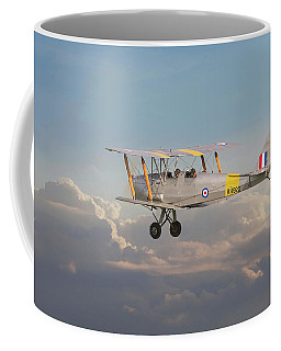 Coffee Mug featuring the digital art Dh Tiger Moth - 'first Steps' by Pat Speirs