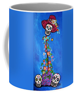 Coffee Mug featuring the painting Dia De Los Muertos by Pristine Cartera Turkus