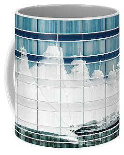 Coffee Mug featuring the photograph Dia Hotel Reflection by Joe Bonita