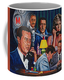 Coffee Mug featuring the painting Dial M For Murder by Michael Frank