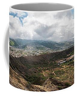 Diamond Head View Panoramic Coffee Mug