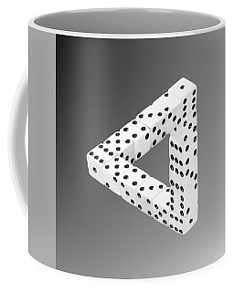 Coffee Mug featuring the photograph Dice Illusion by Shane Bechler