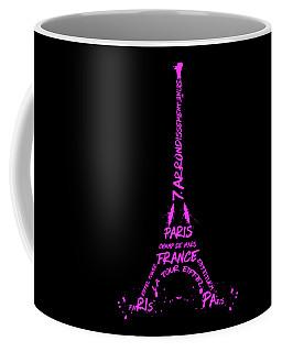 Digital-art Eiffel Tower Pink Coffee Mug