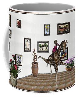digital exhibition _ It climbed up giraffe Coffee Mug
