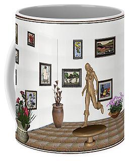 digital exhibition   sculpture of  posing  Girl 32  Coffee Mug