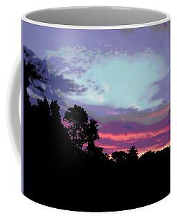 Digital Fine Art Work Sunrise In Violet Gulf Coast Florida Coffee Mug
