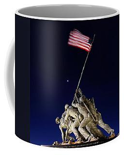 Digital Liquid - Iwo Jima Memorial At Dusk Coffee Mug