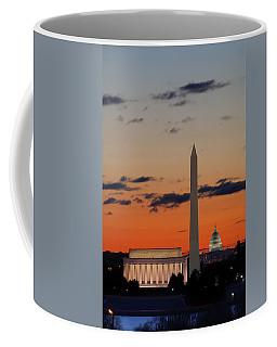 Digital Liquid -  Monuments At Sunrise Coffee Mug