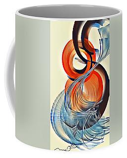 Digital Red Blue And Black Coffee Mug